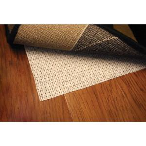 Non Slip Hard Surface Beige 9 ft. x 11 ft. Rug Pad