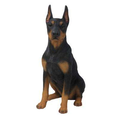 Doberman Pinscher Sitting Statue