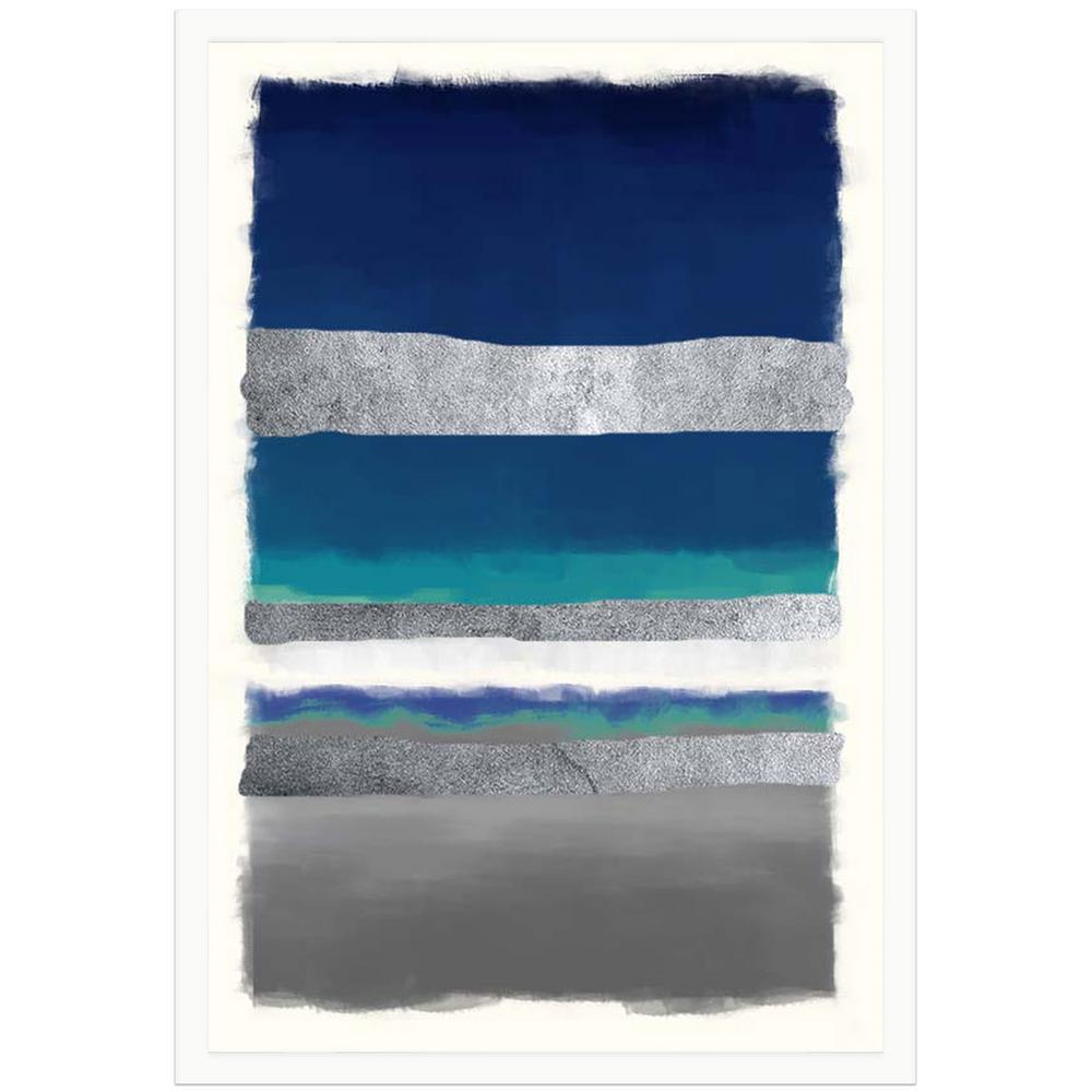 22 in. x 28 in. Blue symphony I Framed Archival Paper Wall Art