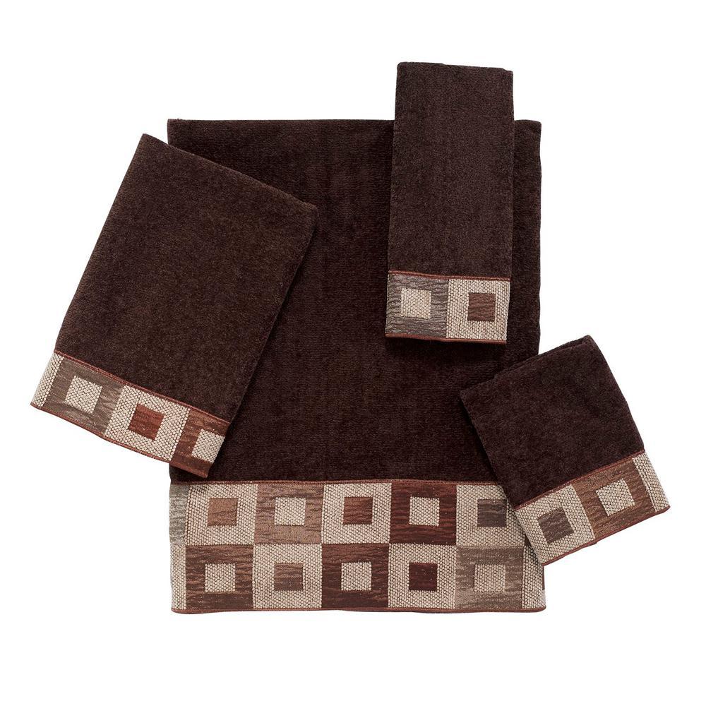 Precision 4-Piece Bath Towel Set in Mocha