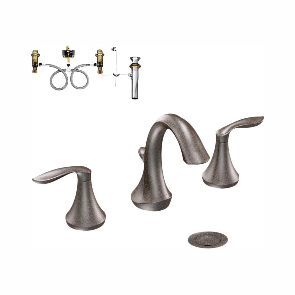 Eva 8 in. Widespread 2-Handle Bathroom Faucet in Oil Rubbed Bronze - Valve Included