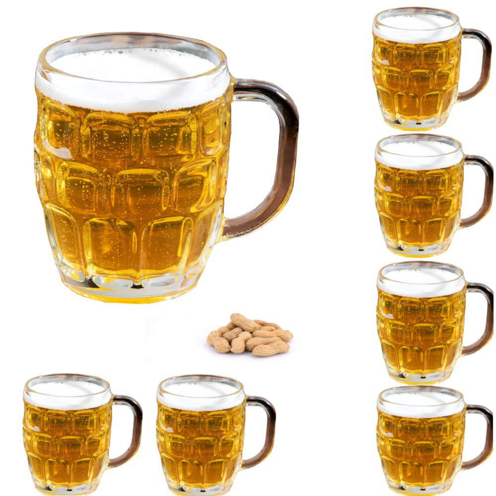 Stemware Barwares Accessories Home Decorative Set Of 4 Glass Beer Mugs 16 Oz
