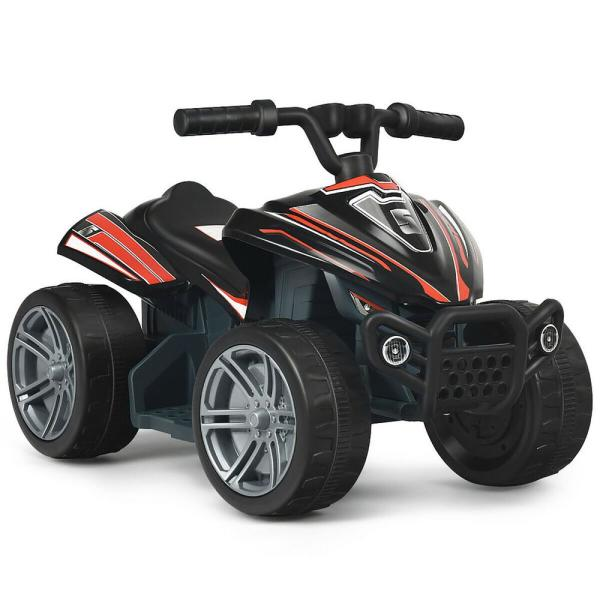 6-Volt Kids 4-Wheeler ATV Quad Battery Powered Electric Ride On Car Toy in Black