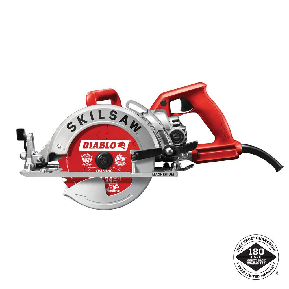 Skilsaw 15 Amp Corded Electric 7 14 In Magnesium Worm Drive
