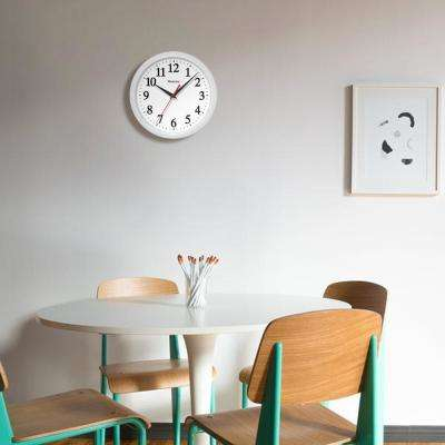 10 in. Ventura White Wall Clock