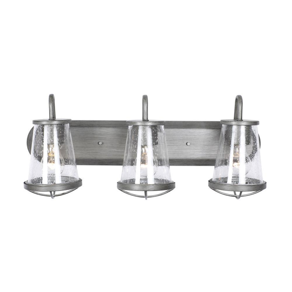 Darby 3-Light Weathered Iron Bath Bar Light