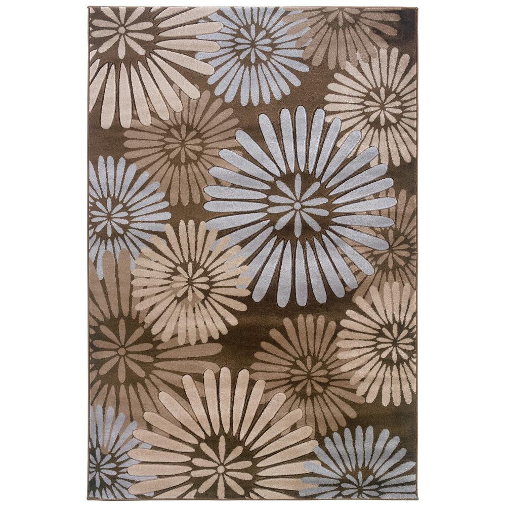 Linon Home Decor Milan Collection Brown and Blue 2 ft. x 3 ft. Area Rug, Brown/Blue The Linon Home Decor 2 ft. x 3 ft. Area Rug is perfect for bringing your interior space together. This rectangular rug comes in a brown shade, so it complements your other home furnishings for an easy interior design solution. It has an abstract motif, delivering a unique character with its rich visual texture. With a 100% polypropylene construction, it will be an extremely long-lasting option for any room. Color: Brown/Blue.