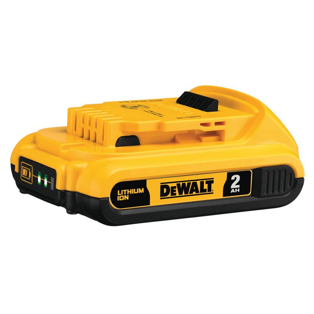 DEWALT 20-Volt MAX Lithium-Ion Compact Battery Pack 2.0Ah
