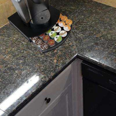 Black U-Shaped Metal Mesh K-Cup Drawer Holds 32 K-Cups