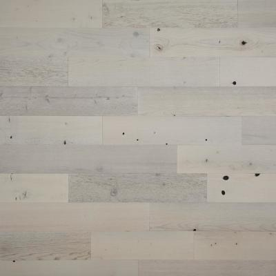 1/8 in. x 5 in. x 12-42 in. Peel and Stick White Wooden Decorative Wall Paneling (10 sq. ft./Box)