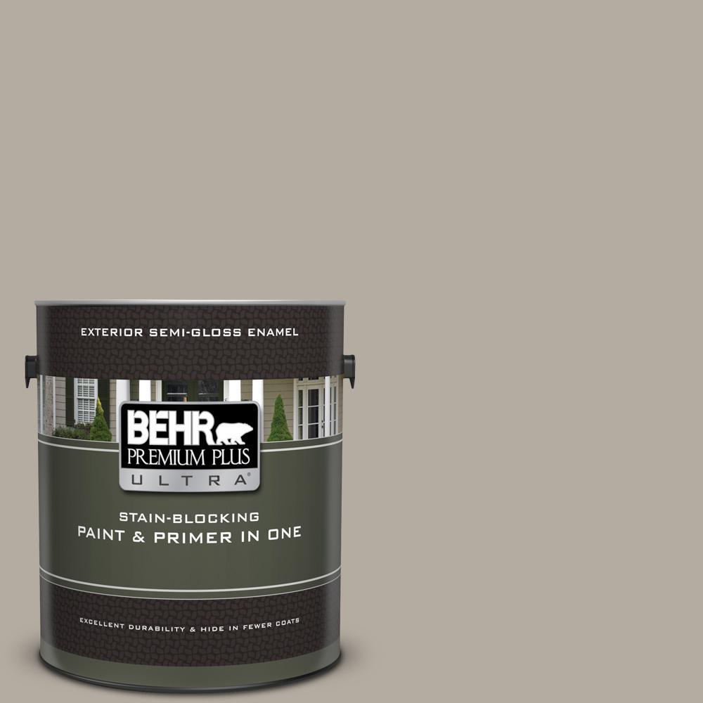 Behr Premium Plus Ultra 1 Gal Ppu18 13 Perfect Taupe Semi Gloss