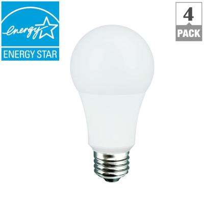 60W Equivalent Soft White A19 Dimmable CEC LED Light Bulb (4-Pack)