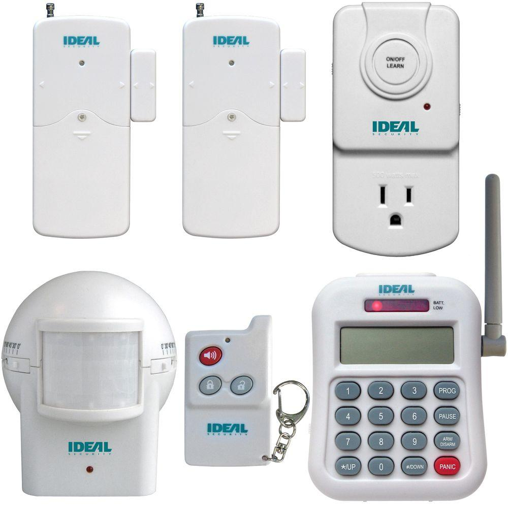 IDEAL Security Wireless Alarm Set with Telephone Dialer and Wireless Socket Control