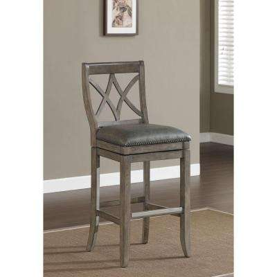 Hadley 30 in. Glacier Cushioned Bar Stool