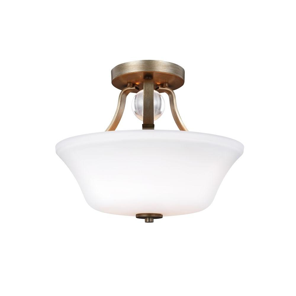 Evington 2-Light Sunset Gold Ceiling Fixture