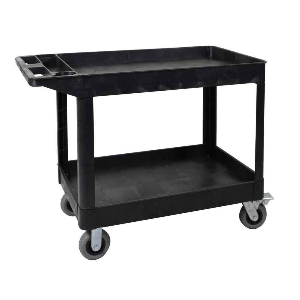 Husky Tool Cart >> Husky 36 in. 3-Drawer Rolling Tool Cart with Wood Top