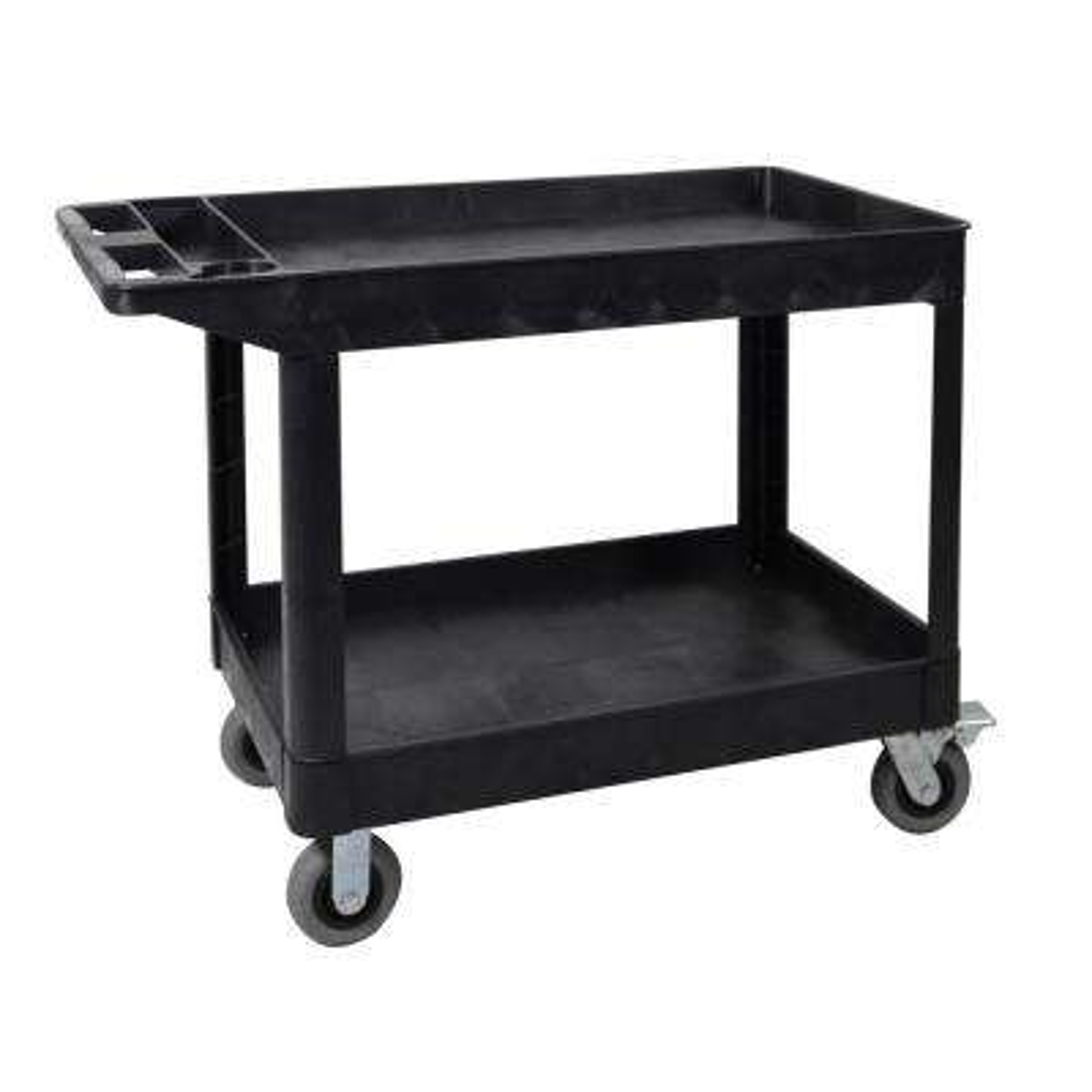 XL 24 in.  W x 45 in.  L 2-Shelf Heavy-Duty Utility Cart