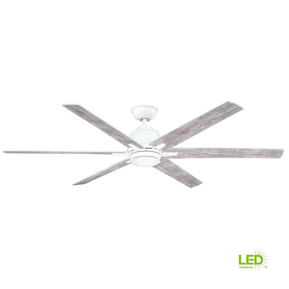 Home Decorators Collection Kensgrove 64 In Led White Ceiling Fan With Remote Control