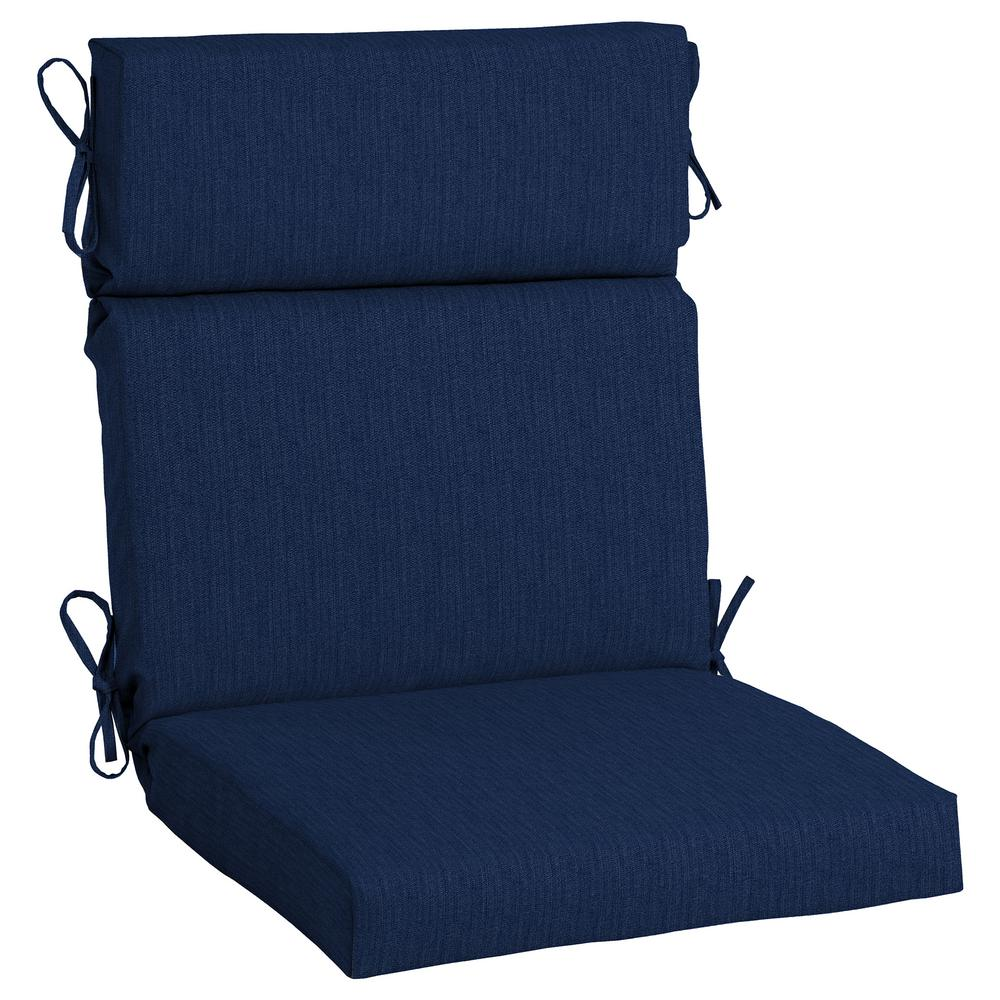 Home Decorators Collection 21.5 X 20 Sunbrella Spectrum Indigo High Back  Outdoor Dining Chair Cushion