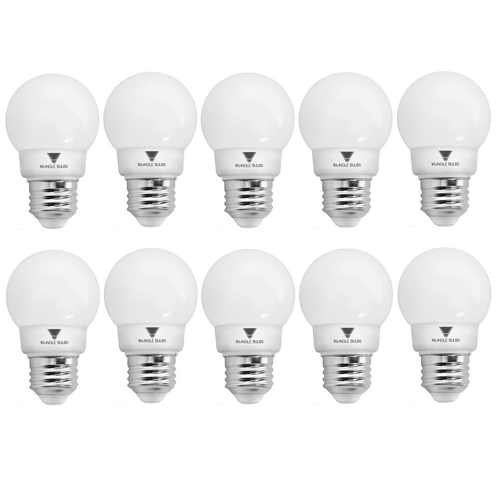 40-Watt Equivalent G16 Dimmable E26 Base LED Globe Light Bulbs (10-Pack)