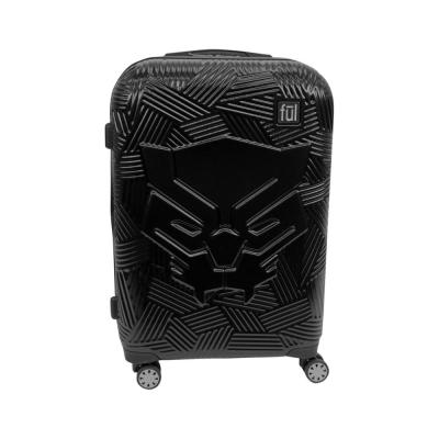 Black Panther Icon Molded Hard Sided 25 in. Black Rolling Luggage