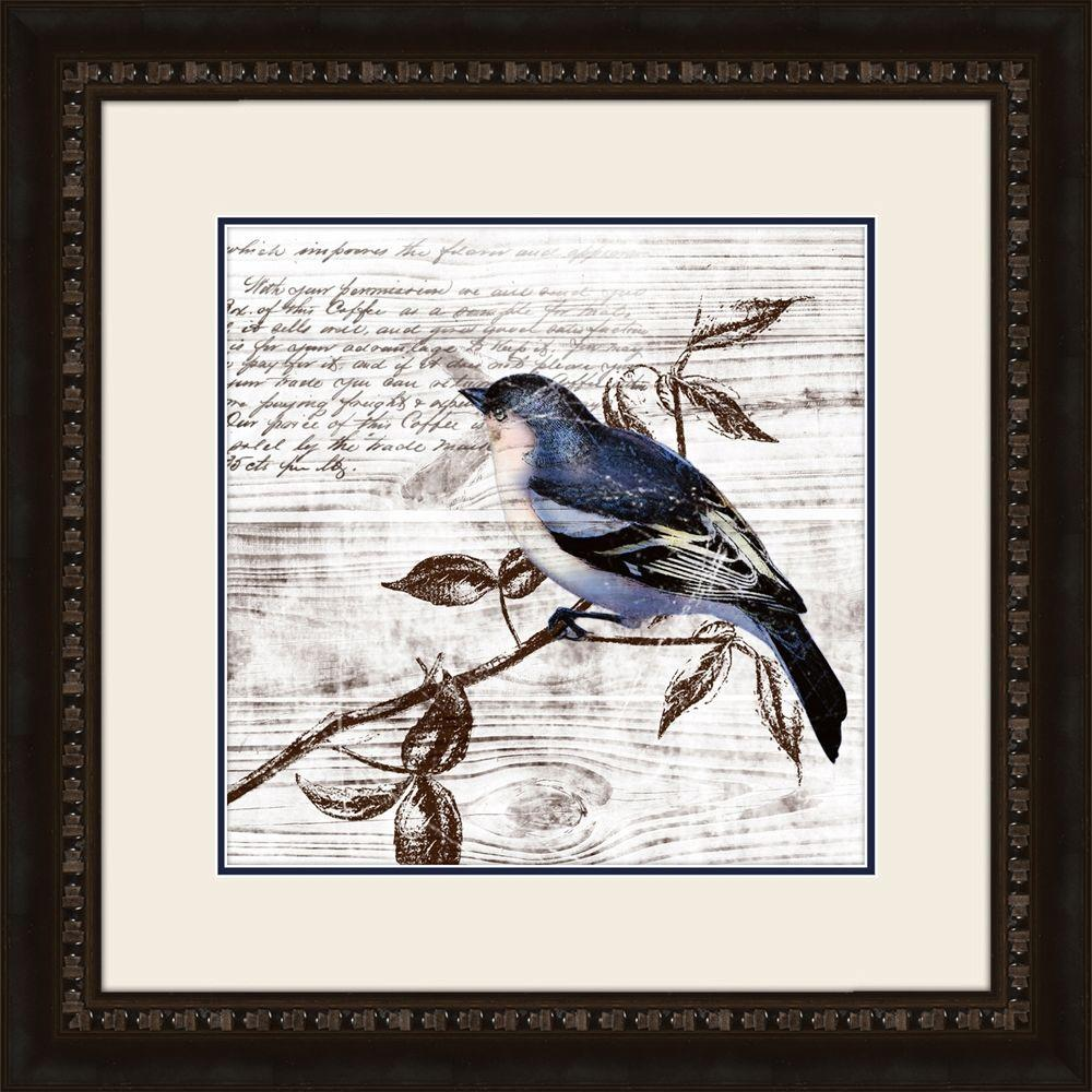 "null 19 in. x 19 in. ""Fluttering C"" Framed Wall Art"