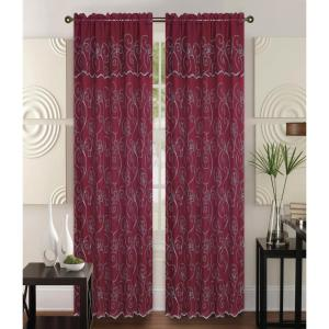 Kashi Home Selma 55 in x 84 in Curtain Panel in Red/Cream by Kashi Home