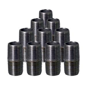 """Lot Of 10 1//2/""""X4 1//2""""Nipple Black Malleable Iron Pipe Fitting Threaded Plumbing"""