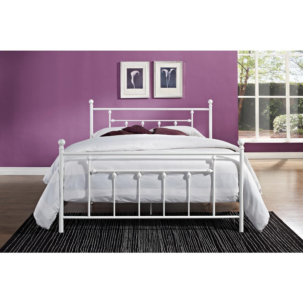 Manila White Queen Bed Frame. Cottage   Beds   Headboards   Bedroom Furniture   The Home Depot