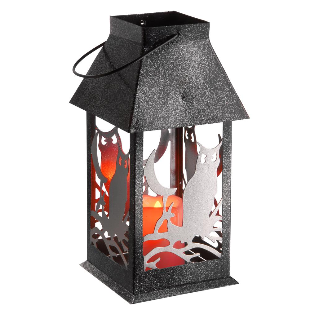 11.6 in. Owl Lantern with LED Lights