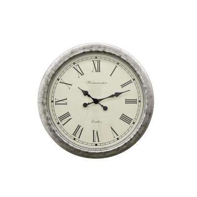 Charmant THREE HANDS Gray Wall Clock