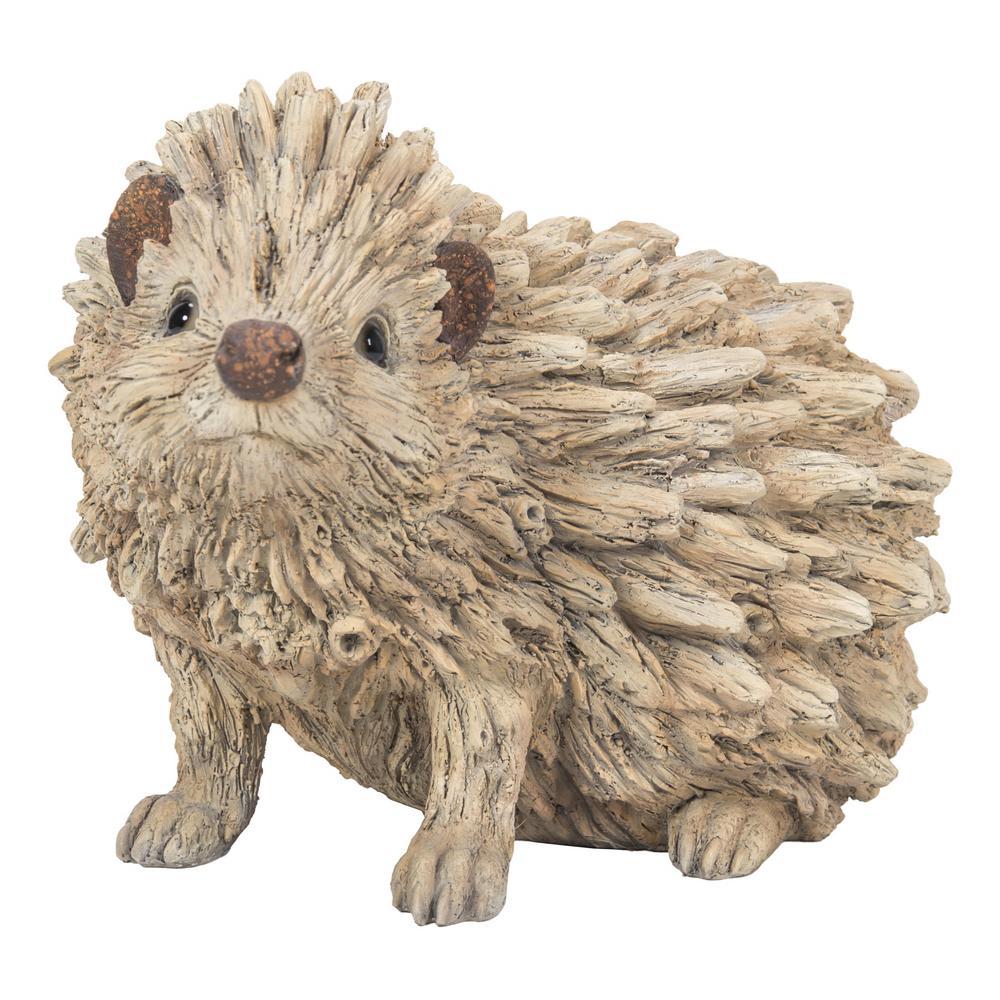 Hedgehog Driftwood Look Statue