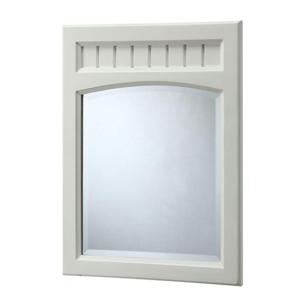 26 in. L x 20 in. W Wall Mirror in White