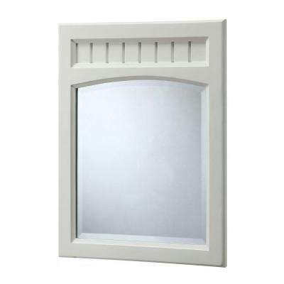26 in. L x 20 in. W Wall Mirror in White