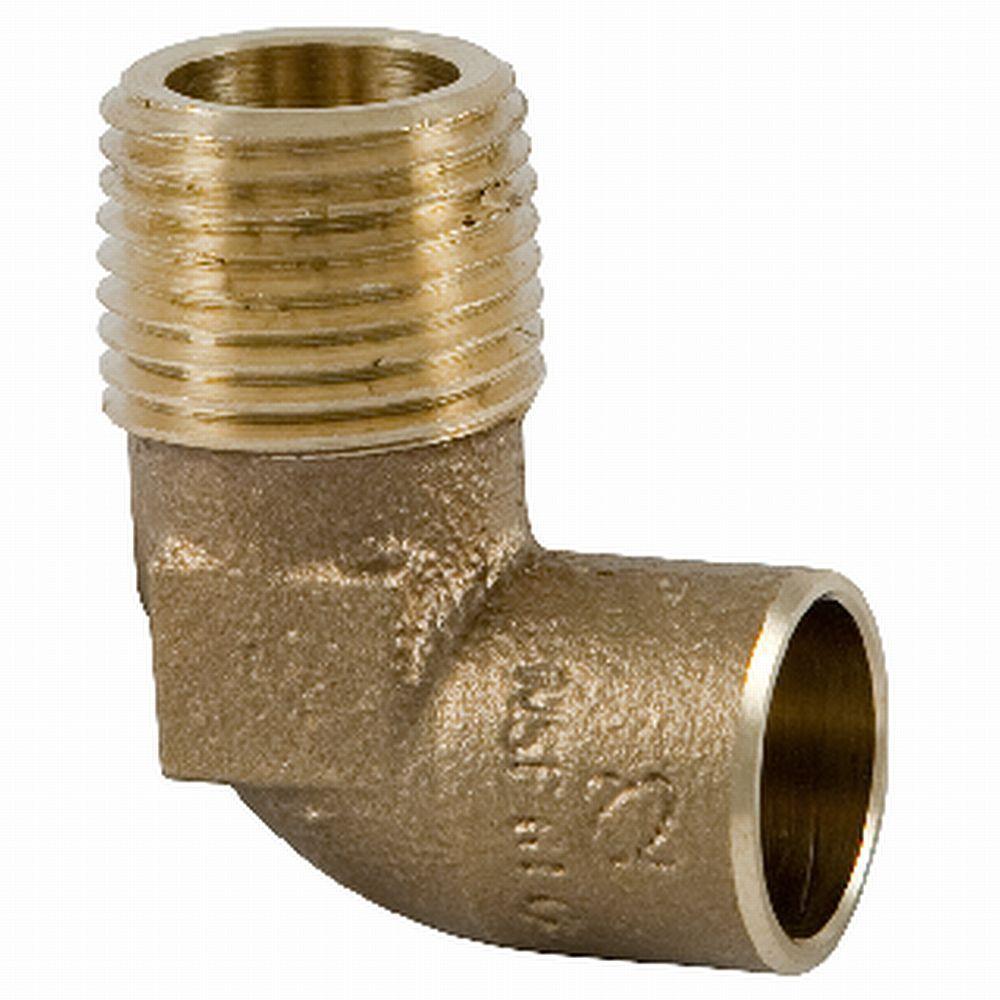 1 in. Lead-Free Copper Silicon Alloy Pressure 90-Degree C x M Elbow