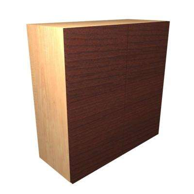 Monaco Ready to Assemble 36 x 21 x 12 in. Wall Cabinet with 2 Soft Close Doors in Cherry