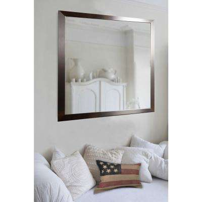 31 in. x 37 in. Large Flat Stainless Non Beveled Floor Wall Mirror