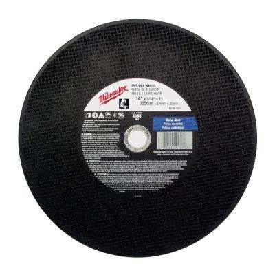 14 in. x 1/8 in. x 1 in. Cut-Off Wheel (Type 1)
