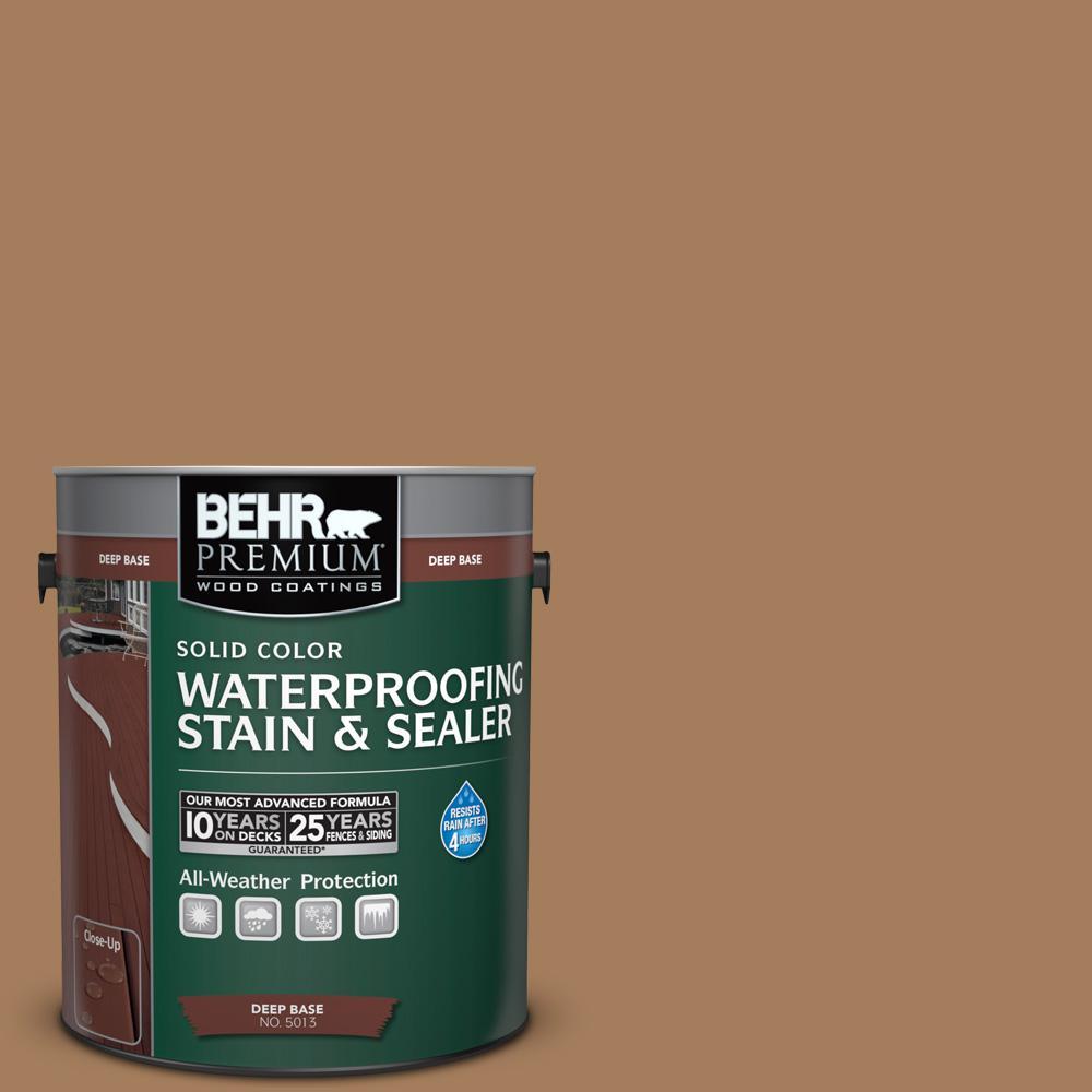 BEHR Premium 1 gal. #SC-158 Golden Beige Solid Color Waterproofing ...