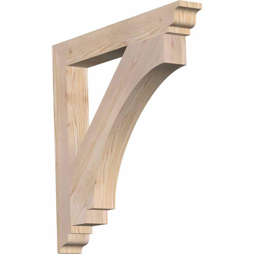 Ekena Millwork 3.5 in. x 30 in. x 30 in. Douglas Fir Imperial Traditional Smooth Bracket