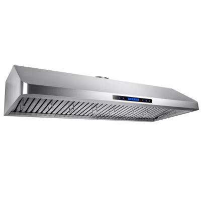 54 in. Kitchen Dual Motor Under Cabinet Range Hood in Stainless Steel with Remote and Touch Panel Control