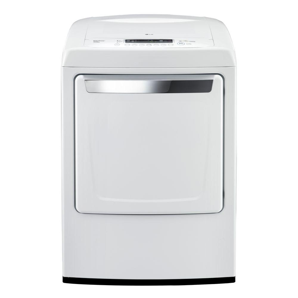 LG Electronics 7.3 cu. ft. Electric Front Control Dryer in White
