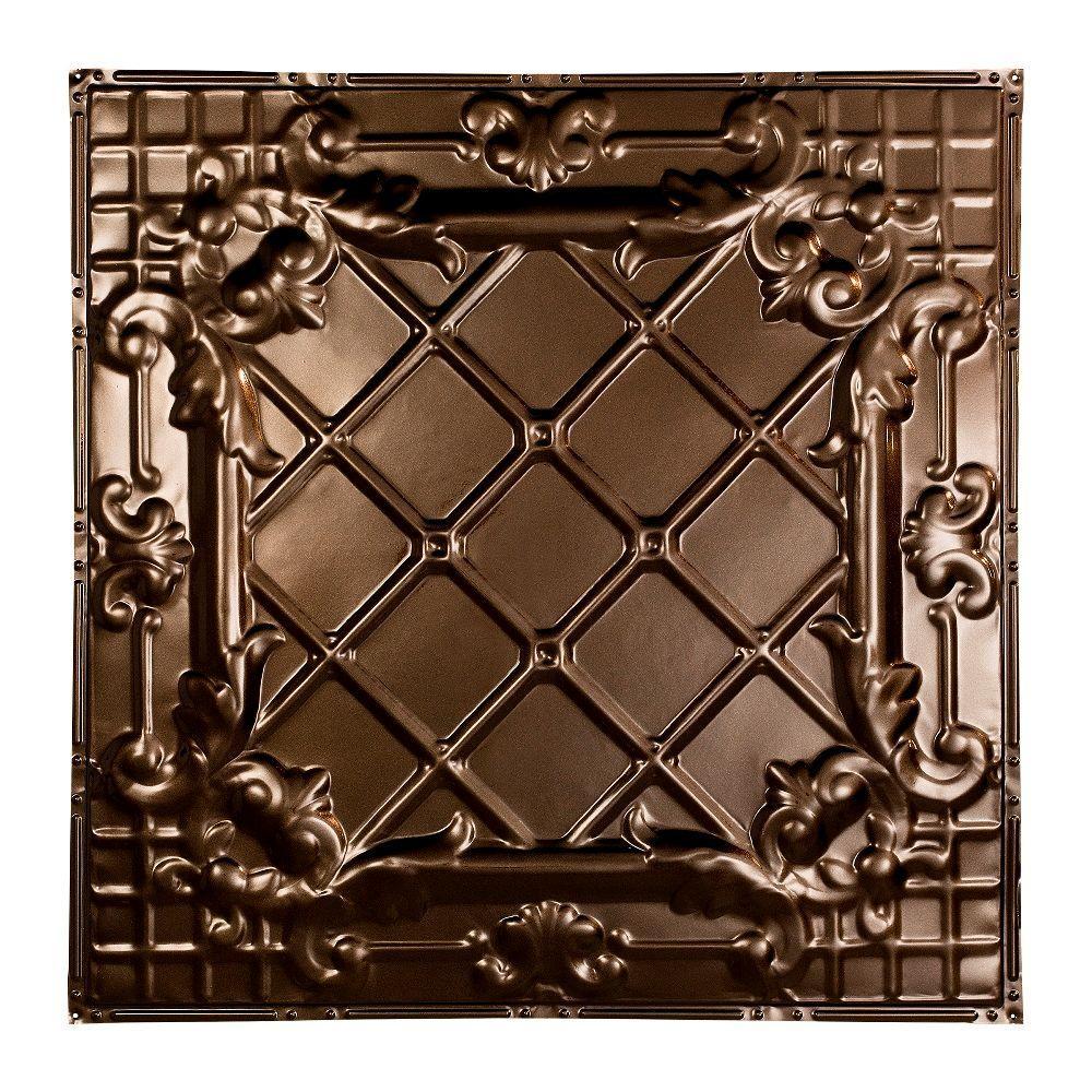 Toledo 2 ft. x 2 ft. Nail-up Tin Ceiling Tile in Bronze Burst