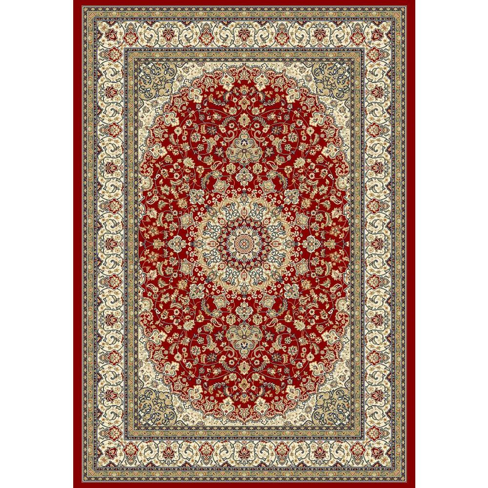 Nicholson Red/Ivory 2 ft. x 3 ft. 11 in. Indoor Area Rug