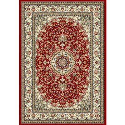 Nicholson Red/Ivory 3 ft. 11 in. x 5 ft. 7 in. Indoor Area Rug