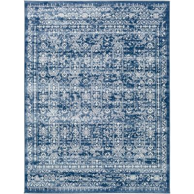 Distressed Blue Area Rugs Rugs The Home Depot