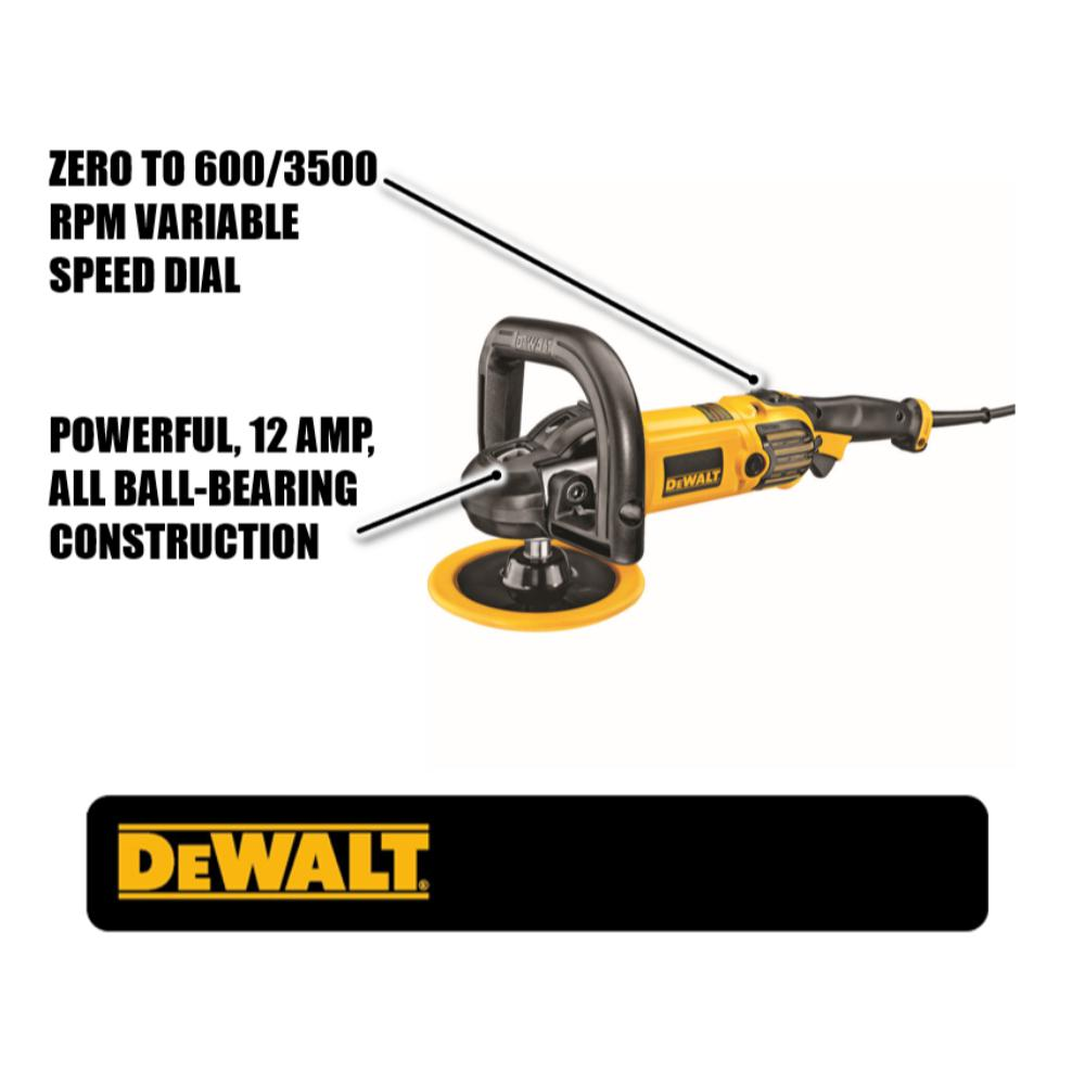 Dewalt 12 Amp 7 In 9 In Variable Speed Polisher With Soft Start Dwp849x The Home Depot