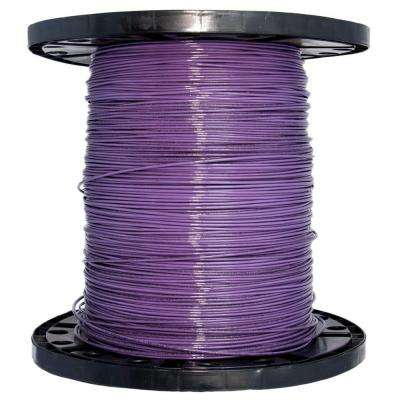 2500 ft. 14 Purple Solid CU THHN Wire