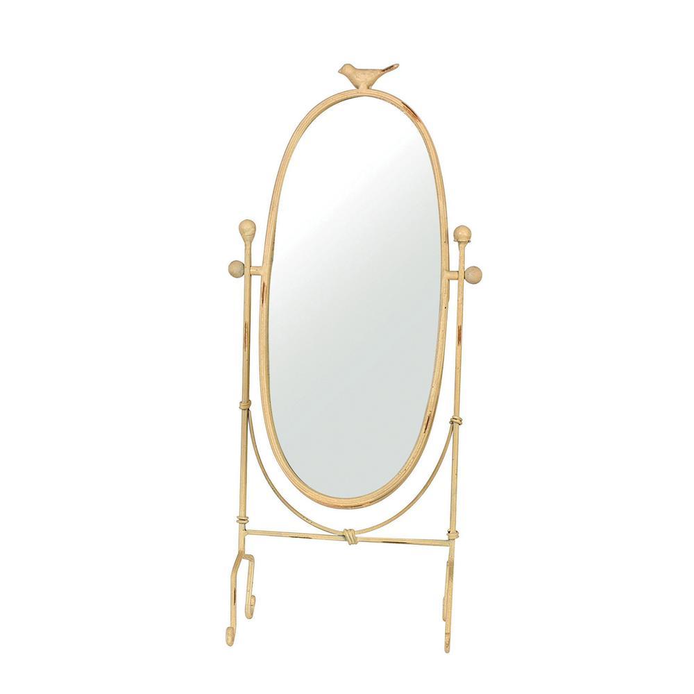 Metal Vanity Mirror with Bird