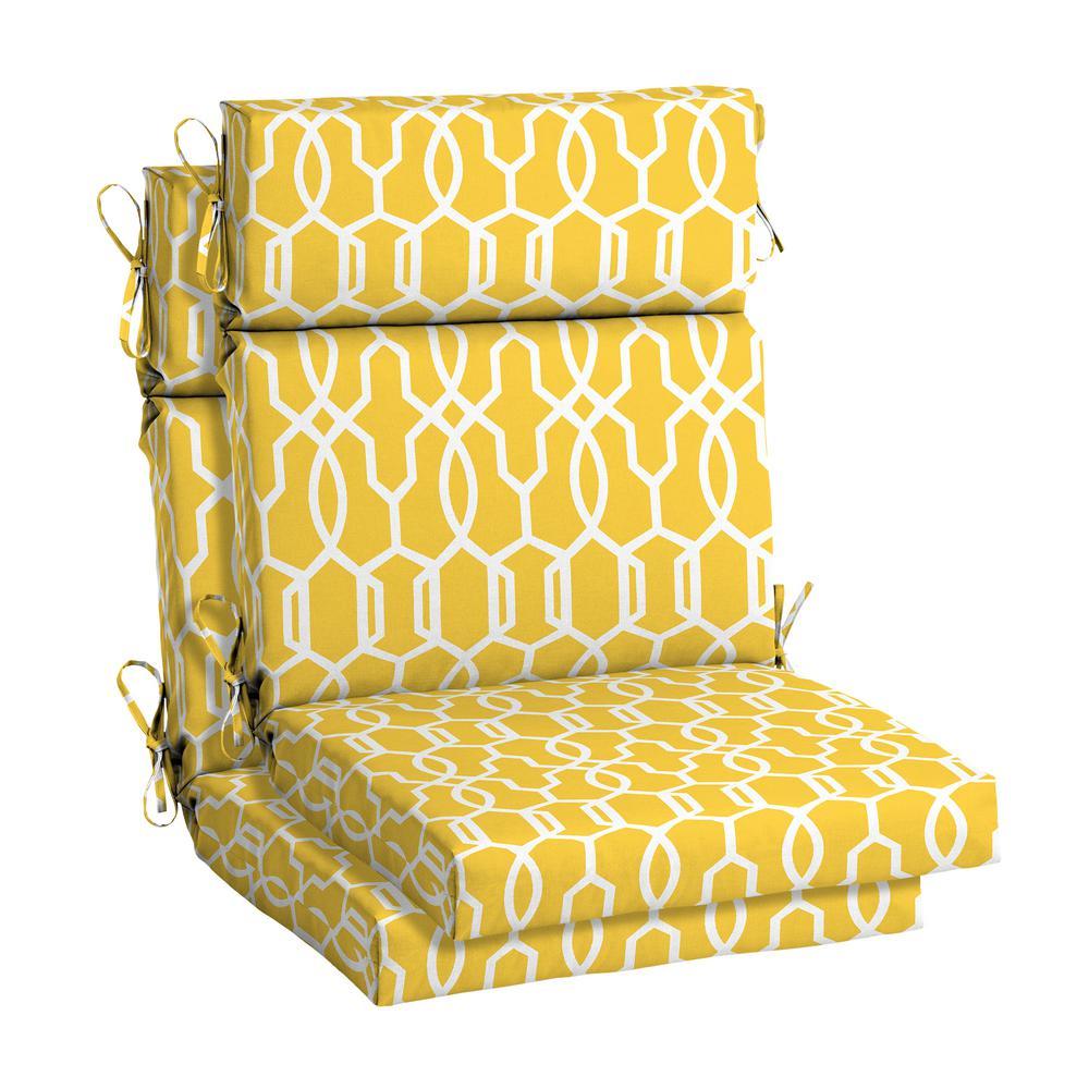 hampton bay DriWeave 21.5 x 24 Vase Lattice High Back Outdoor Chair Cushion (2-Pack)